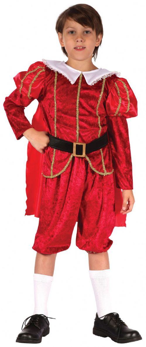 Boys Tudor Prince Costume Medieval Middle Ages Fancy Dress Outfit
